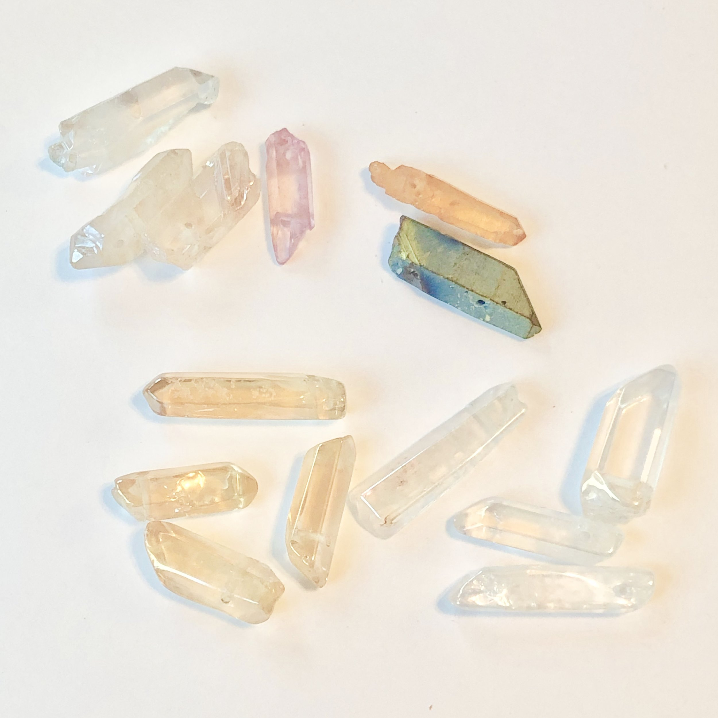 Aura Quartz: Opens one to new pathways, clears the aura. Use for spiritual direction.