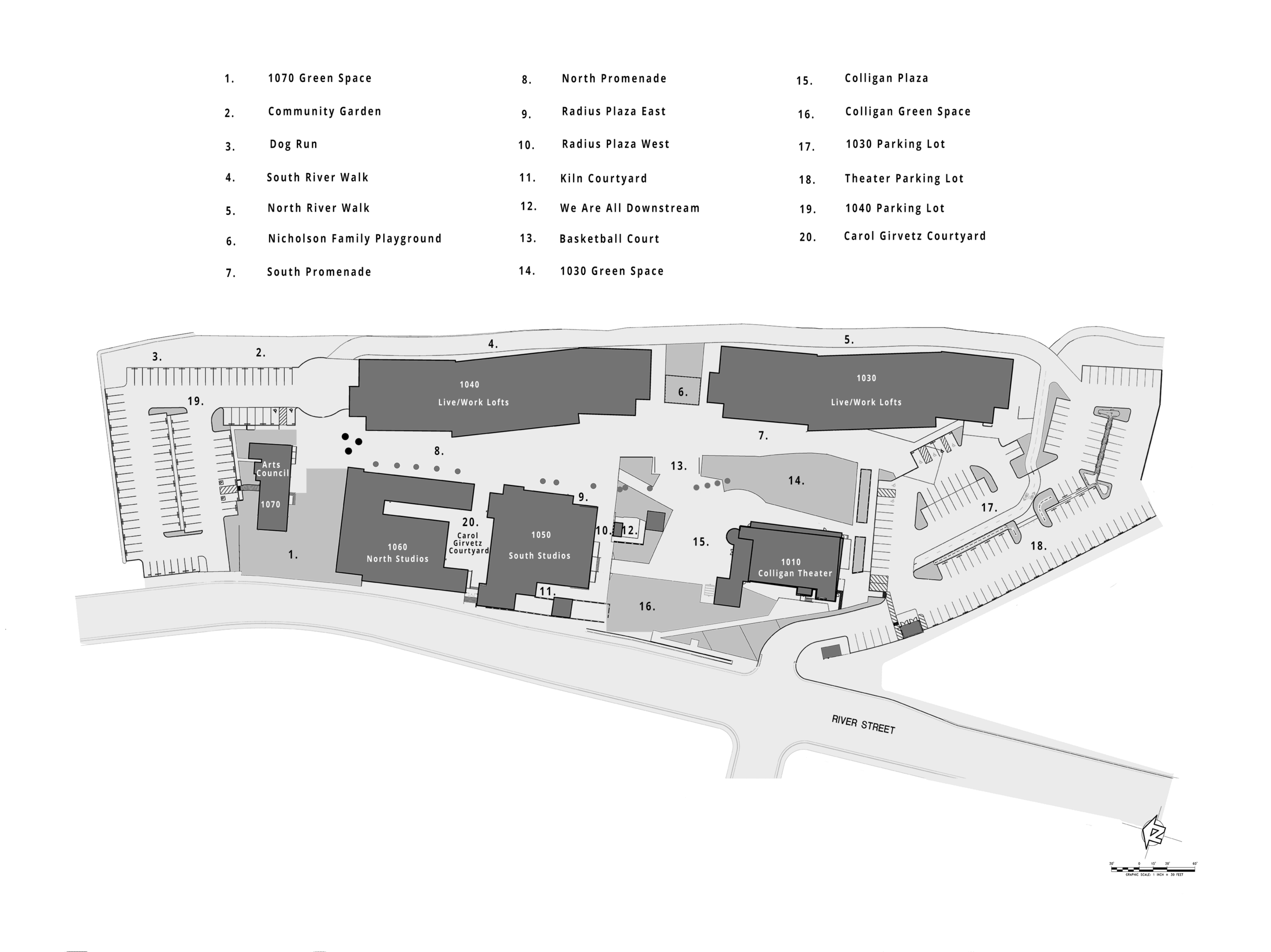 TANNERY SITE PLAN grayscale colors final W KEY resized for web.png