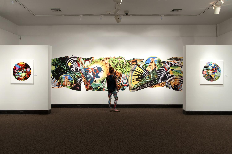 Peter D. Gerakaris ,  Tropicália Remix , 2016, installation view, Armory Art Center, West Palm Beach, FL