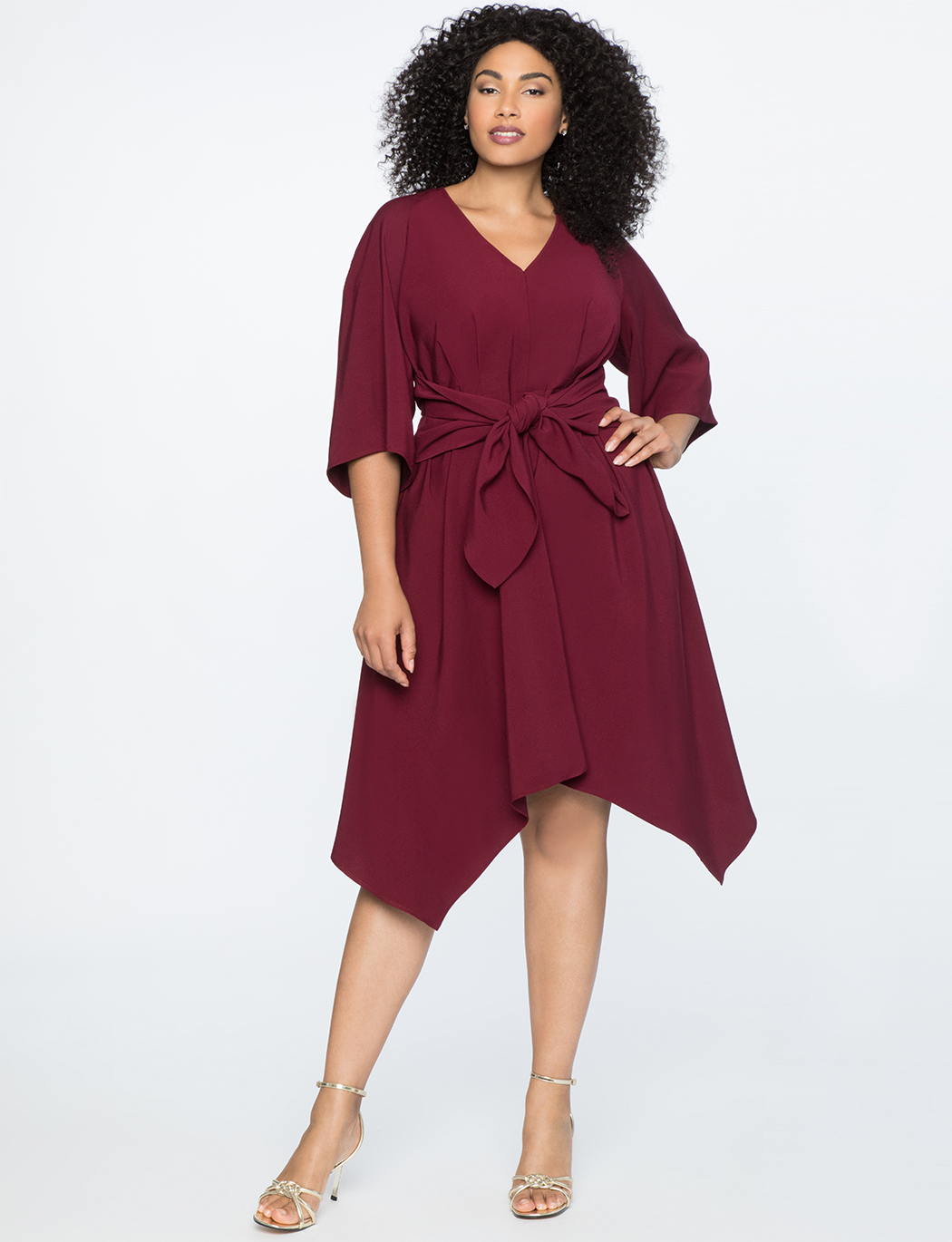Tie Waist High-Low Dress   $69.90