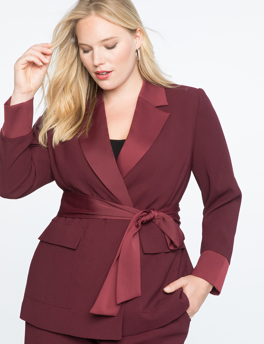 Satin Trimmed Robe Blazer   $69.90