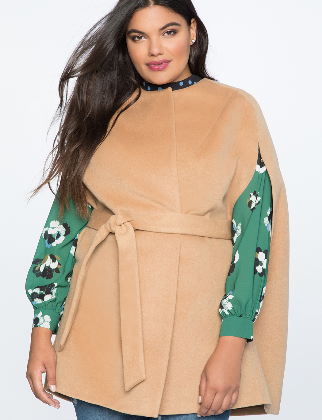 Camel Cape Coat   $89.90