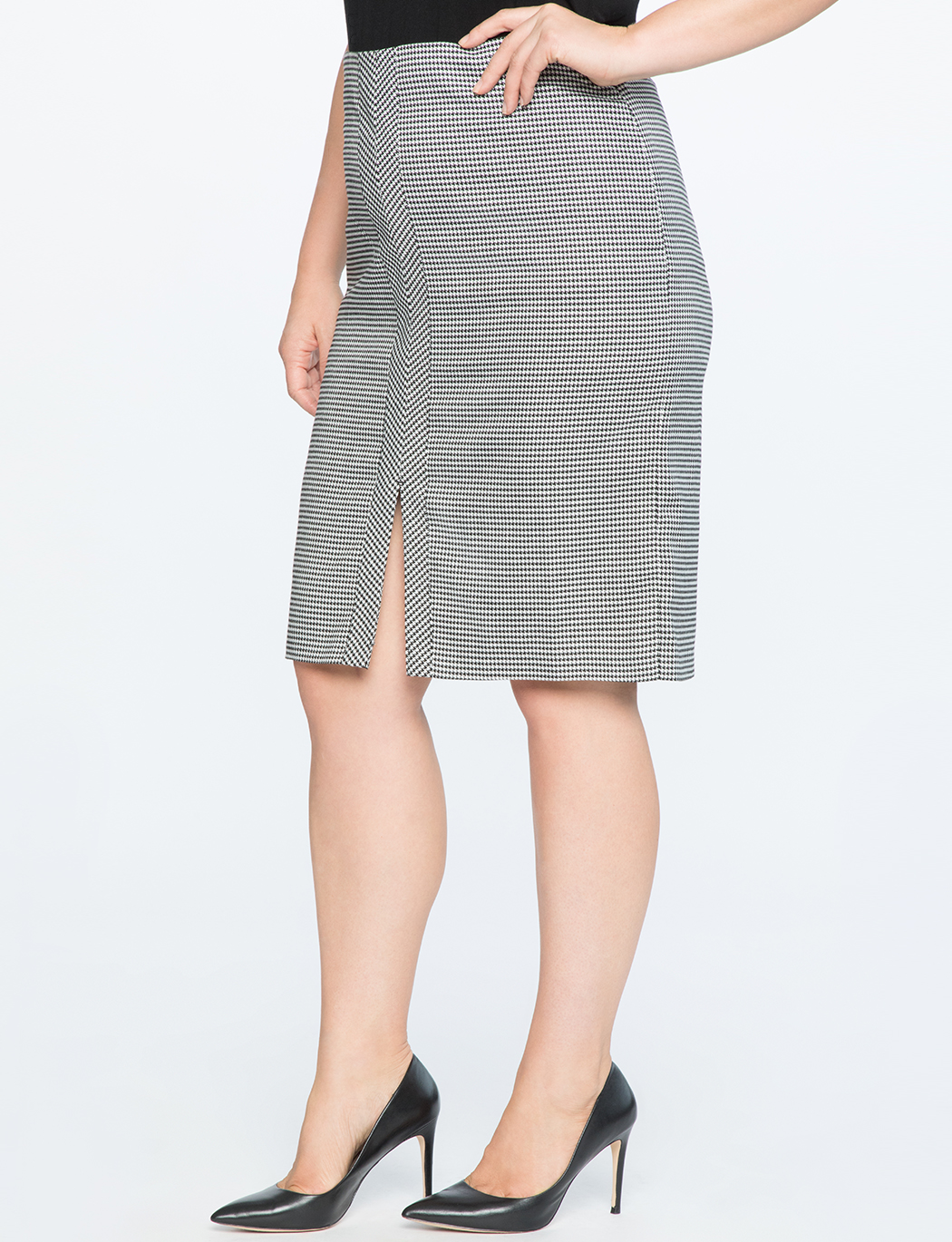 Double Slit Houndstooth Skirt    $39.90