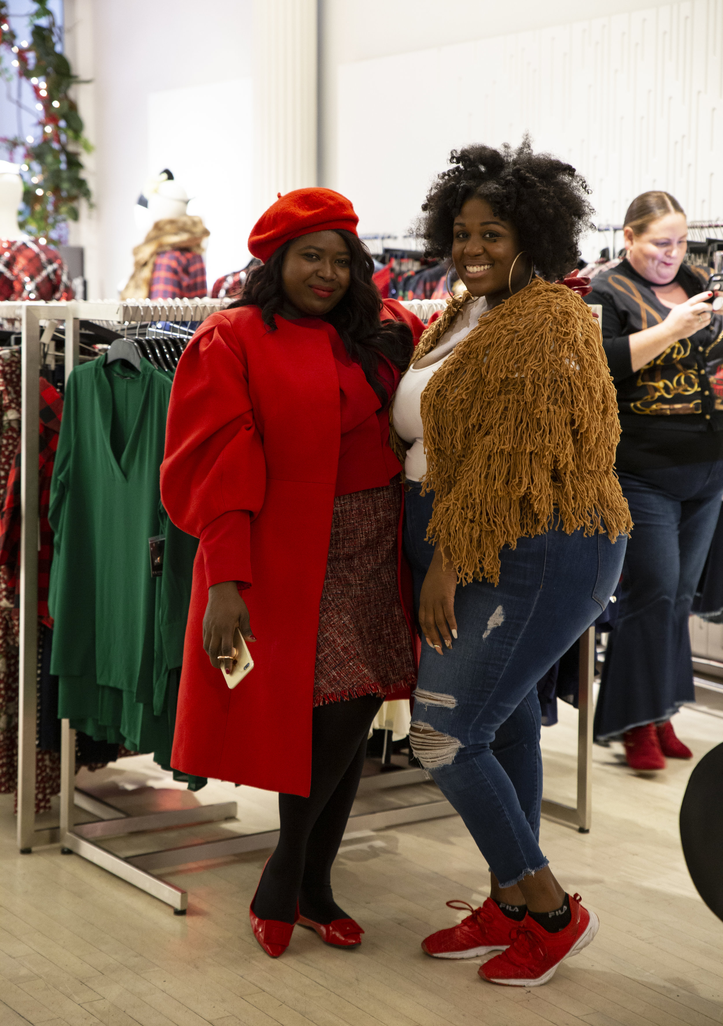 Makeda of  Glamazon Diaries  (L) and Peggy of  On The Q Train  (R)