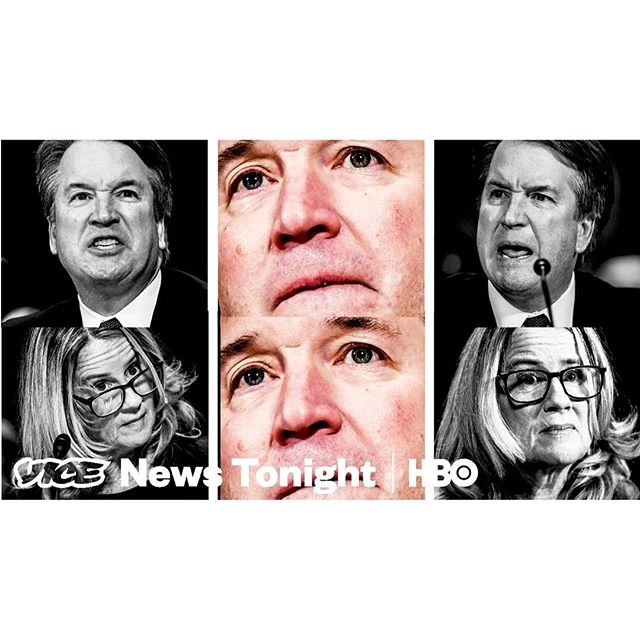 """Congratulations to @vicenews on the Emmy win for Outstanding Coverage of a Breaking News Story in a Newscast for """"Moment Of Truth: Kavanaugh And Ford""""! We're grateful to have been part of the team. . . SXS's Director Gabriel Silverman @gesilver and Director of Photography Kathryn Carlson @kl_carlson were part of several teams throughout the country covering all sides of the Kavanaugh-Ford hearings in real time. Gabe was part of the team covering the female protesters blasting Ford's testimony with an iPhone and a megaphone, and Kathryn followed Inez Stepman and the conservative group of women who turned up in support of confirming Kavanaugh. . . Congrats to all who worked on the show! Check out the episode at the link in our bio. . . #vicenewstonight #emmys #emmys2019 #kavanaugh #kavanaughhearings #documentary #sidexsidestudios"""