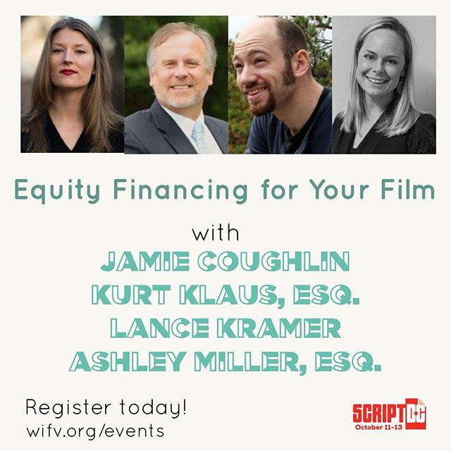 If you're interested in learning about all the ways you can finance your film, this is the place to be this weekend.  Executive Producer Jamie Coughlin @jamiebcoughlin will be at ScriptDC 2019 by Women In Film & Video @wifvdc this weekend. Register at WIFV.org/events!  #womeninfilm #wifvdc #documentary #financing #filmfinance #sidexsidestudios