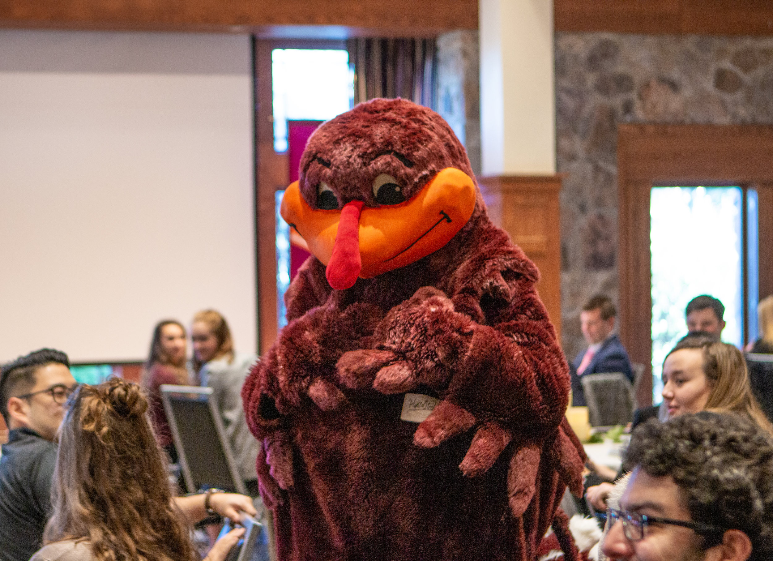 2019 conference attendees were greeted by the Hokie Bird to kick off the conference!