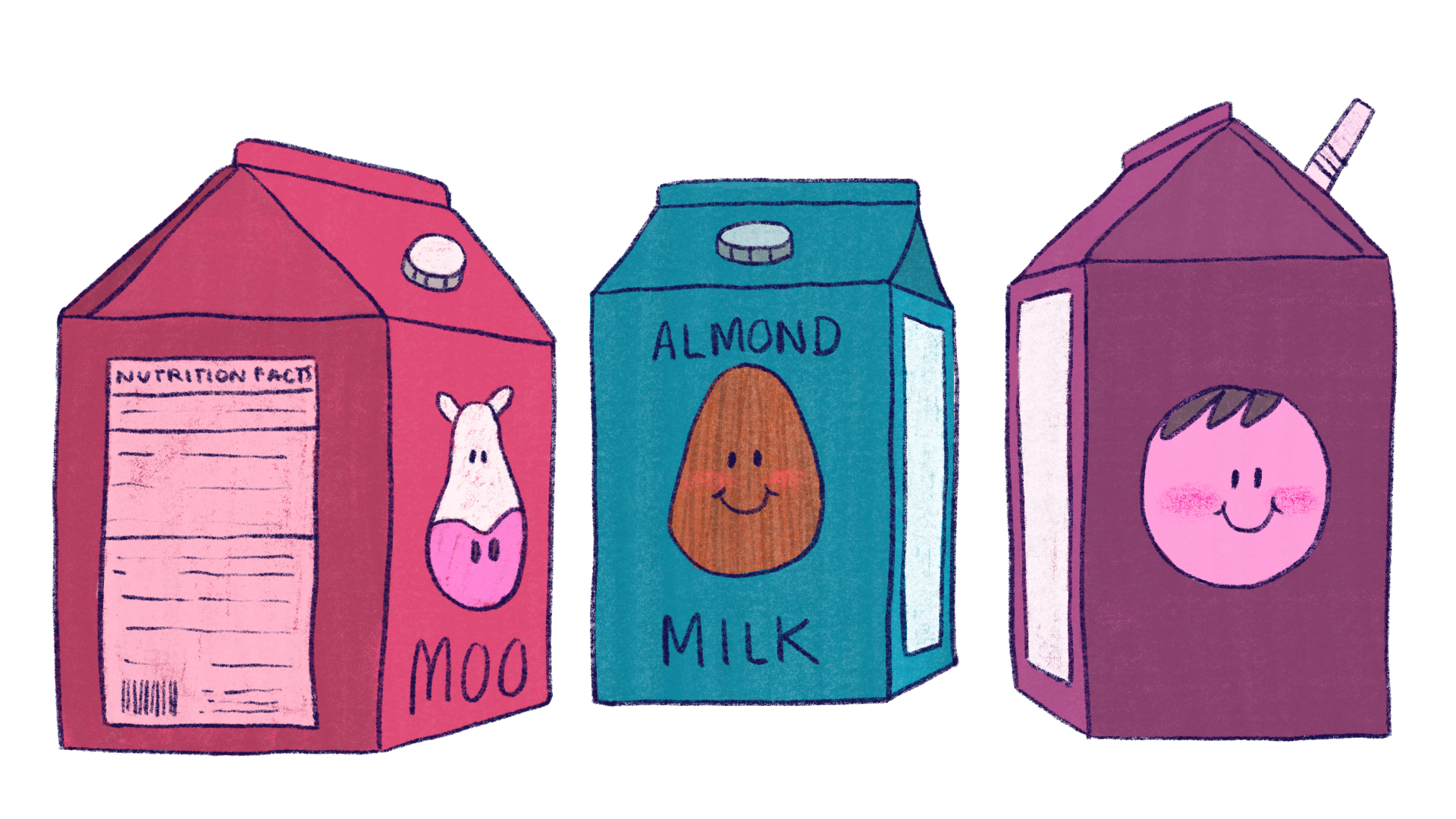 Props - Milk Cartons for Thesis backgrounds