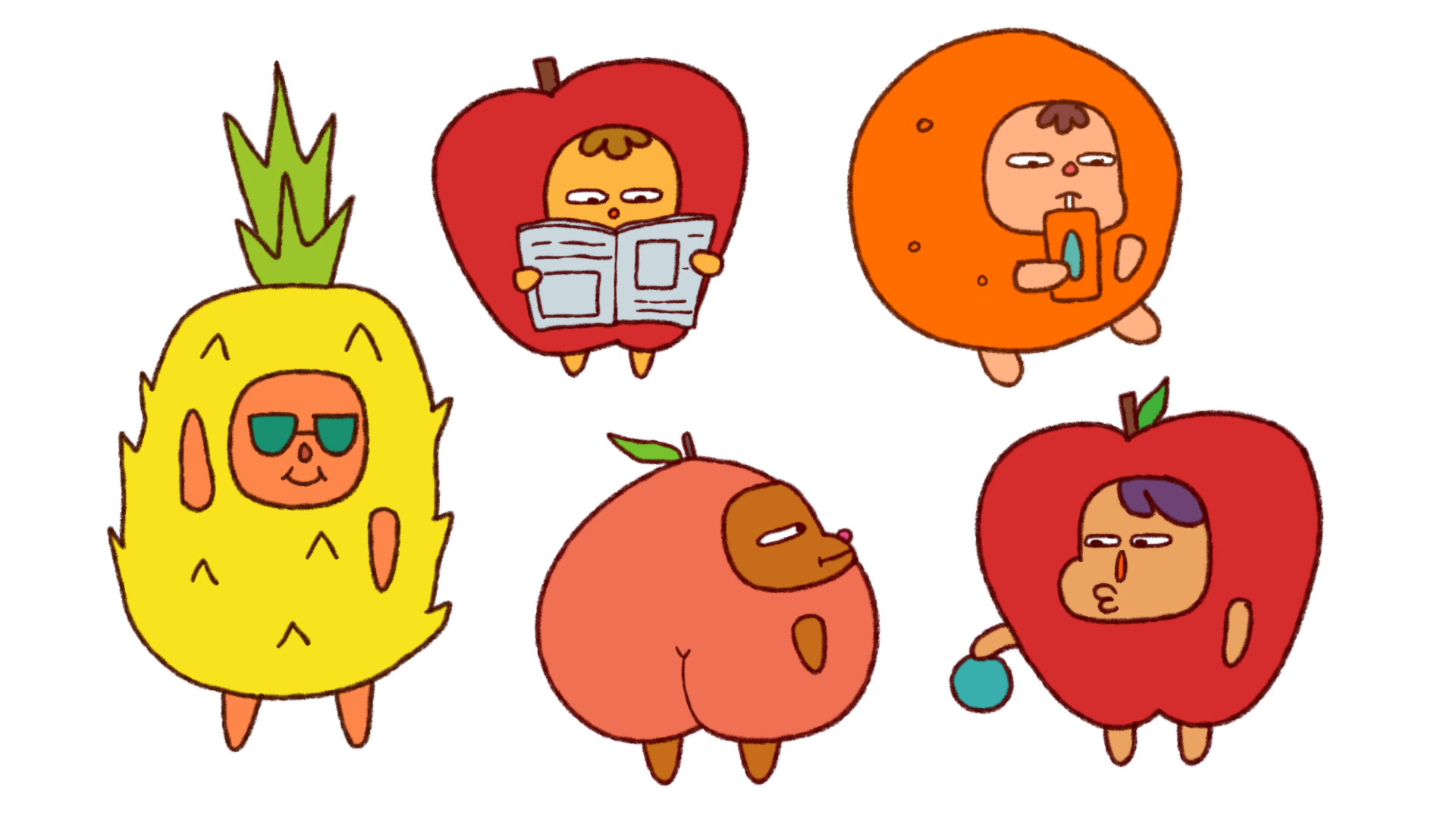 Thesis BG Characters - Fruits
