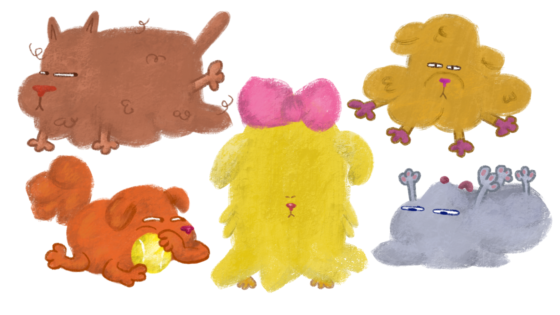 Visual Development - Fluffy Dog concepts