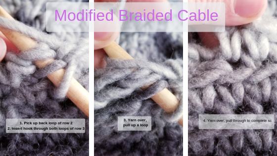 Modified Braided Cable (wrong side)