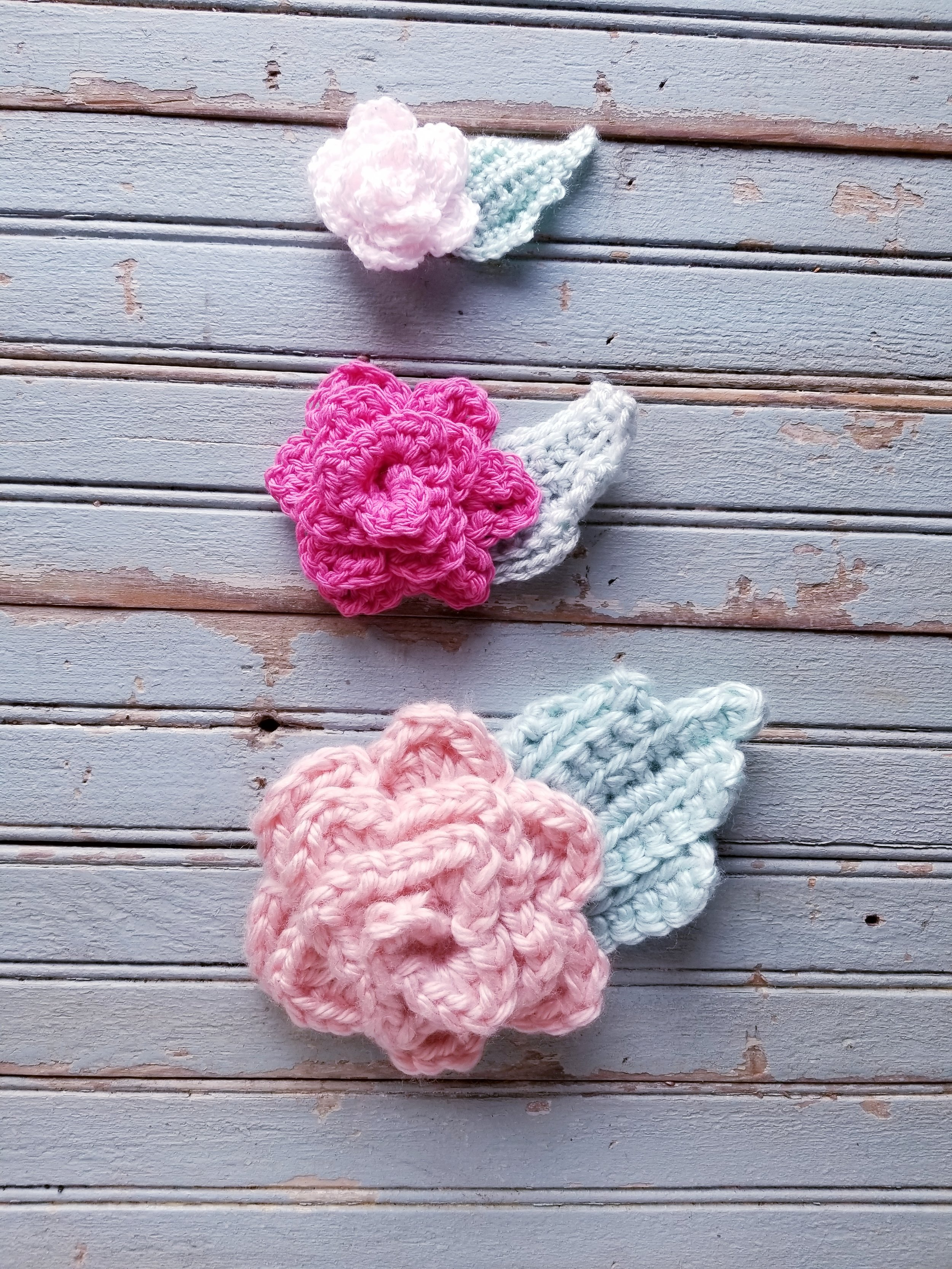 Crochet rosettes free pattern and photo tutorial