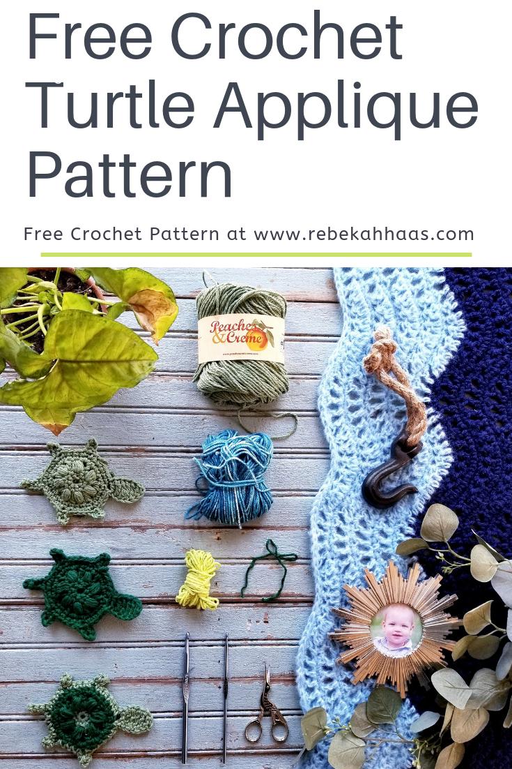 Free Crochet Turtle Applique Pattern