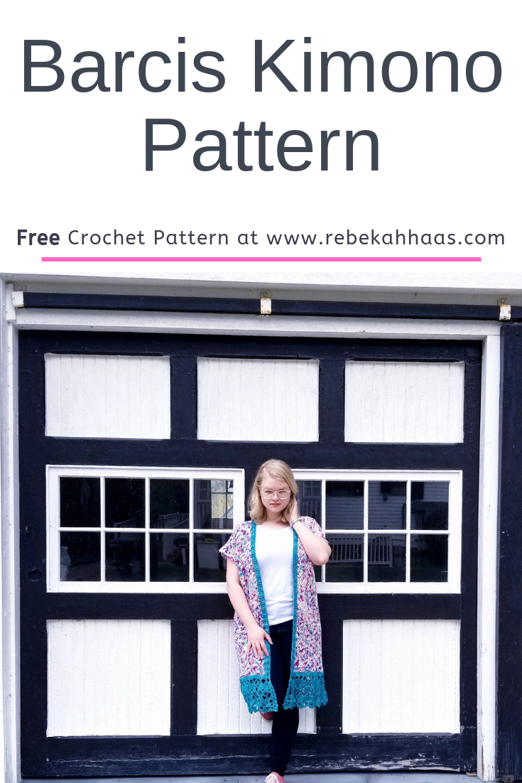 This fun crochet kimono is sooo easy to style! Wear it over a dress or even with your favorite pair of jeans!