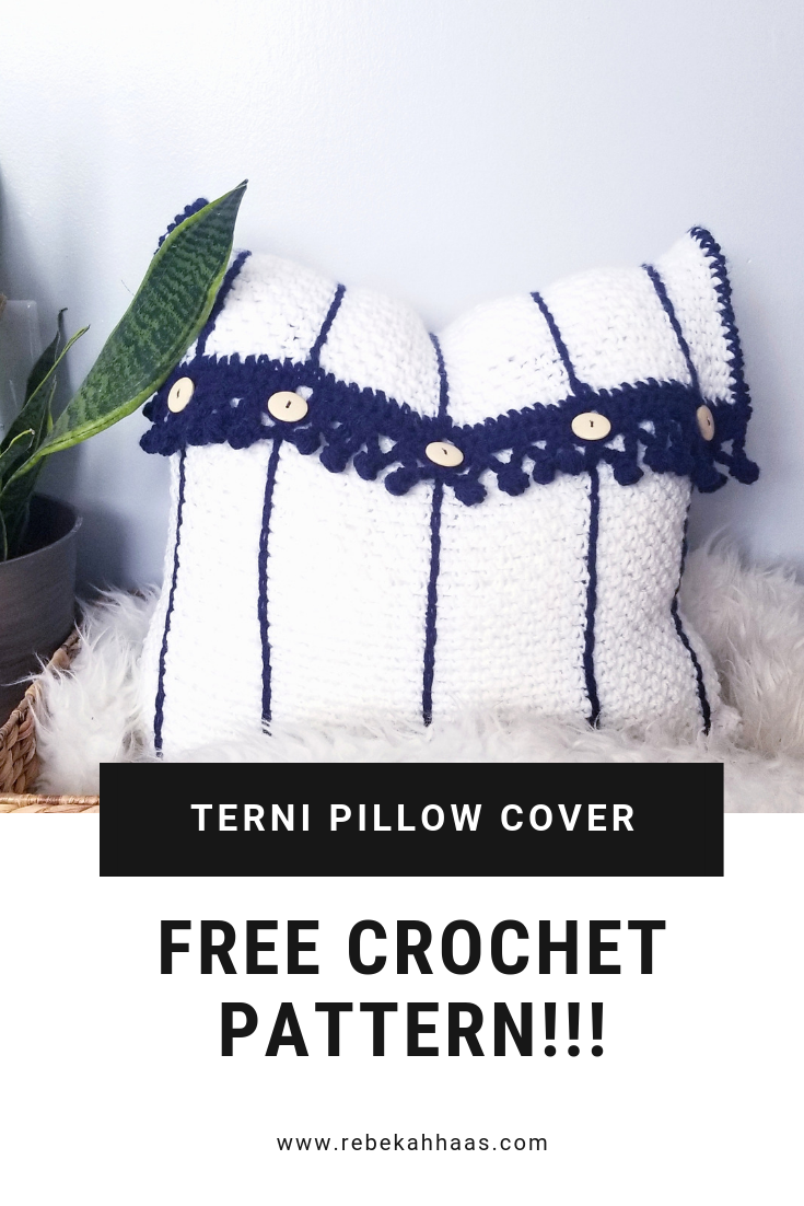 Terni Pillow Cover Free Crochet Pattern