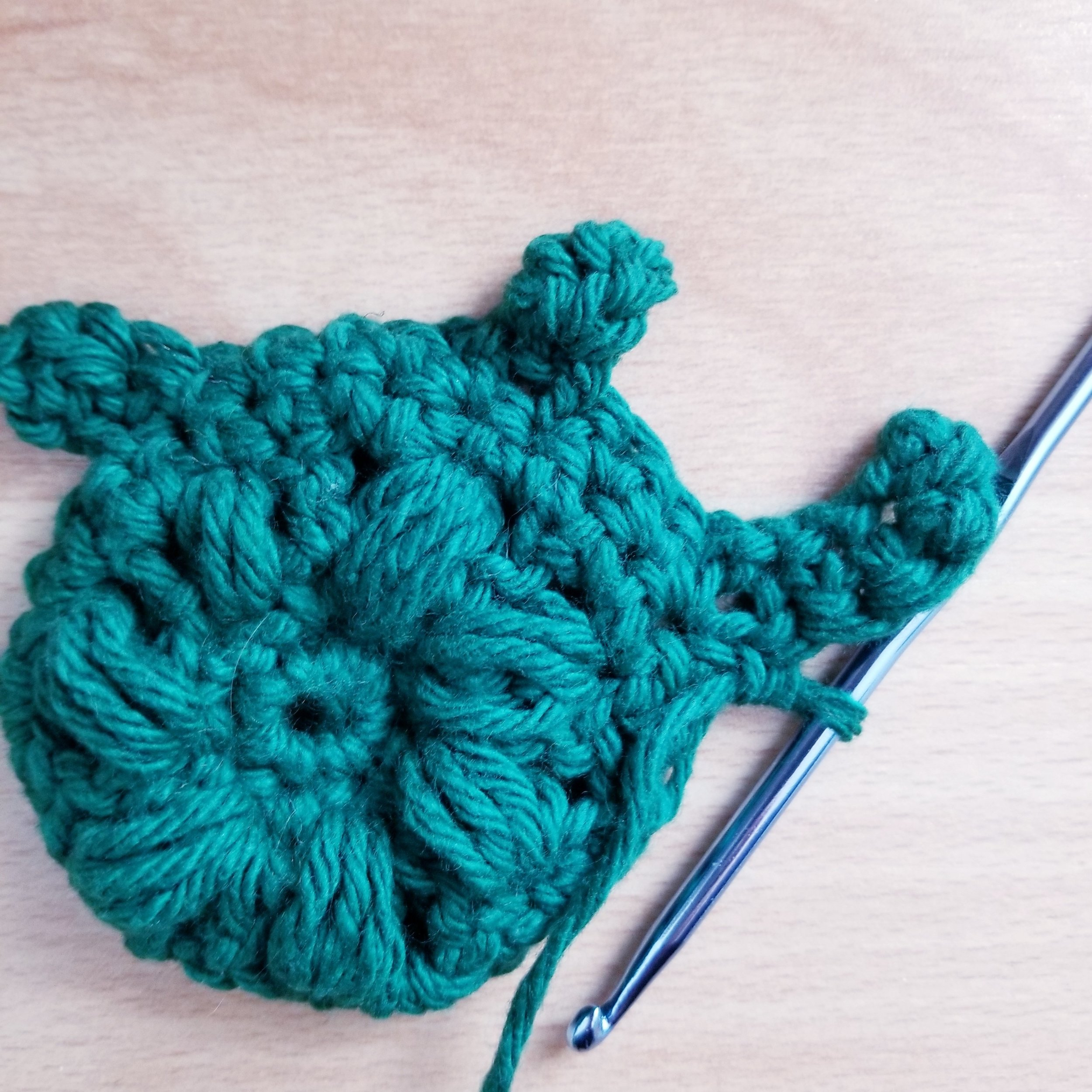 Crochet Turtle Applique - making the tail