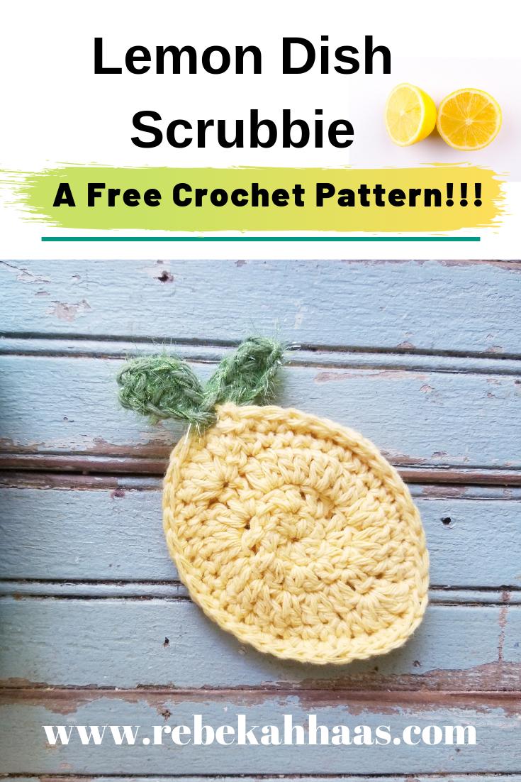 Lemon Dish Scrubbie: Free Crochet Pattern #easycrochetpattern #summercrochet #crochetdishscrubbie