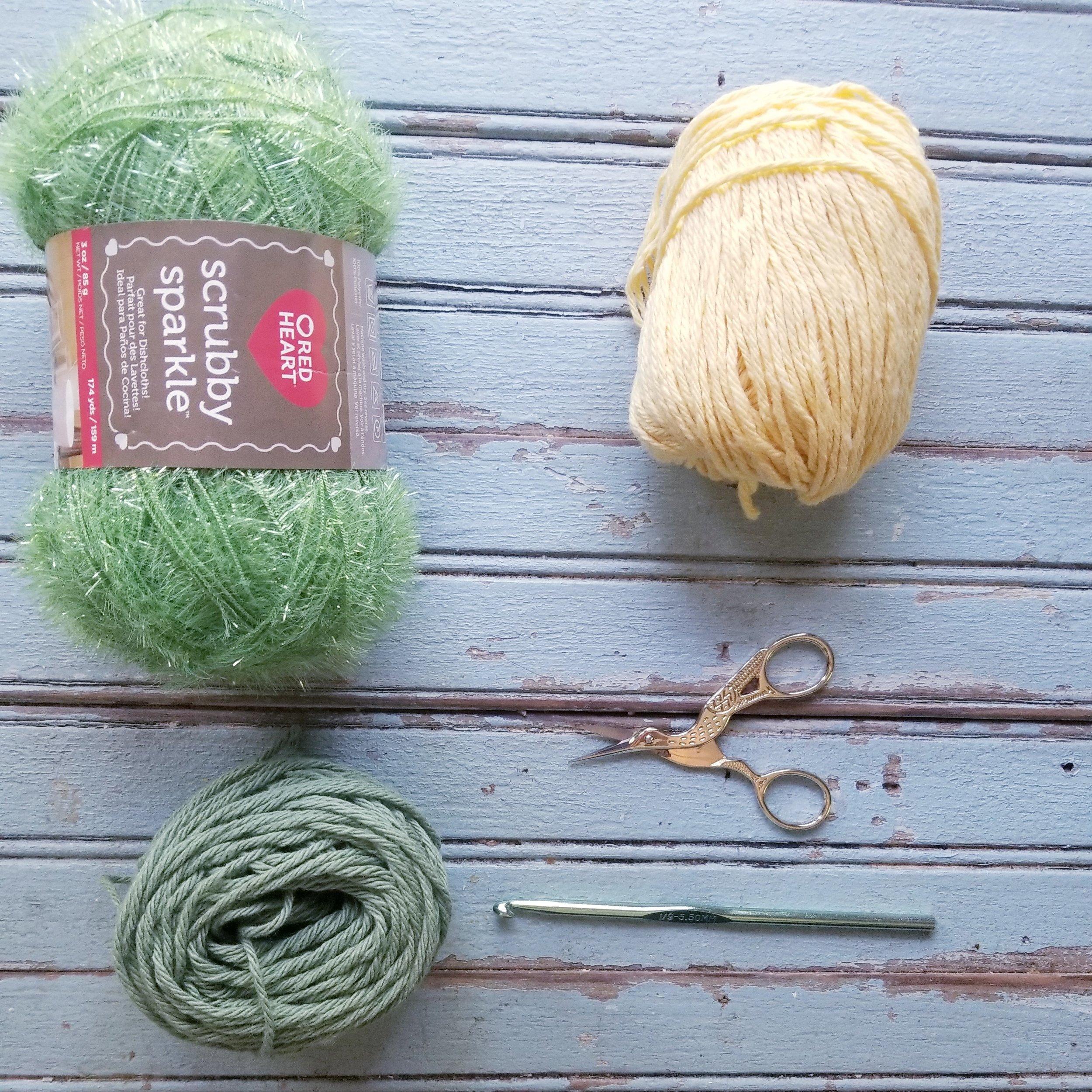 Lemon Dish Scrubby: Free Crochet Pattern