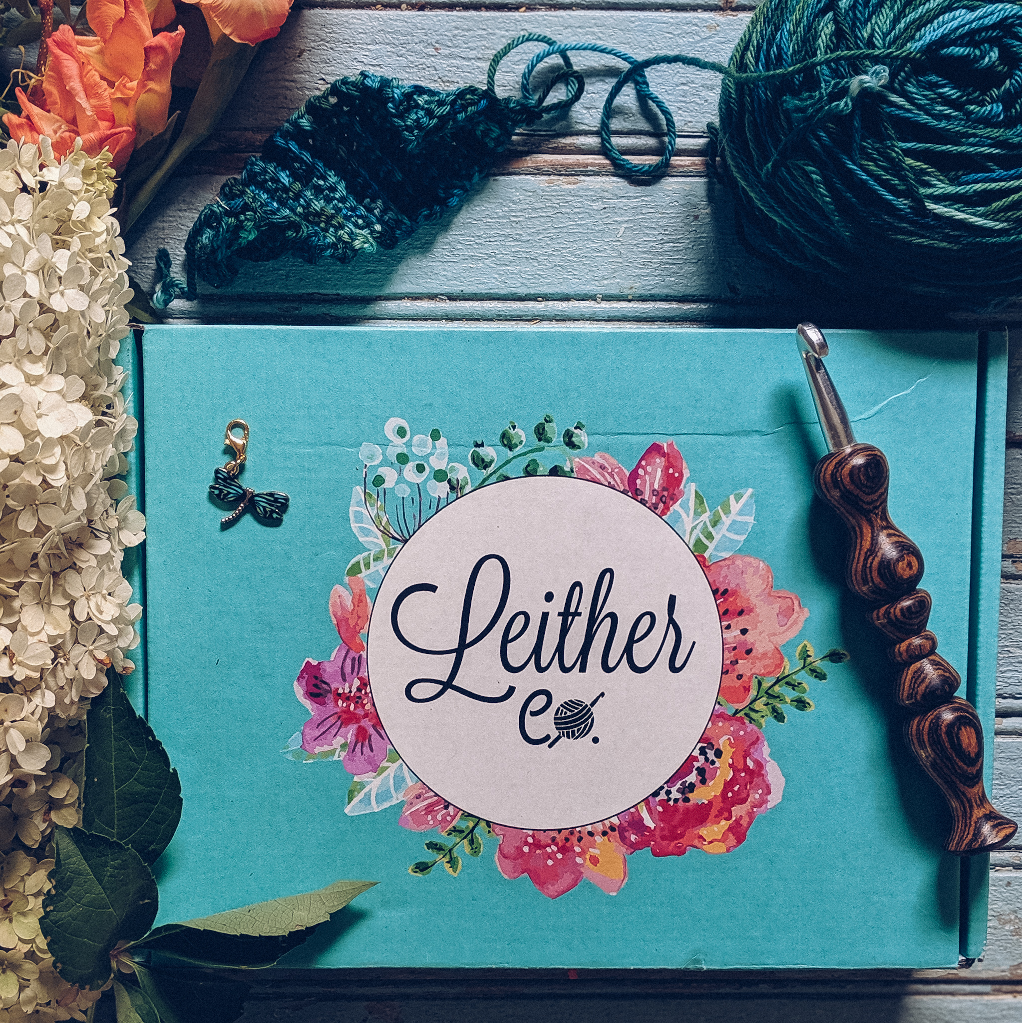 Leither Co. Crochet Subscription Box Review: read for all the details! #freecrochetpatterns #crochetsupplies #crochet