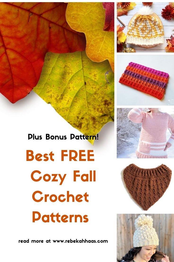 5 Free Cozy Crochet Patterns: Fall Crochet Pattern Round-UP!