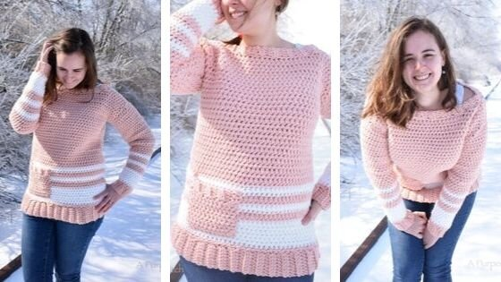 Easy Crochet Pullover: a free crochet pattern anyone can make!