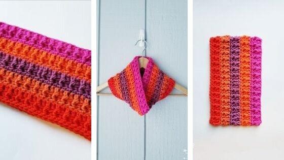 Colourway Cowl: Free Crochet Pattern features Caron x Pantone