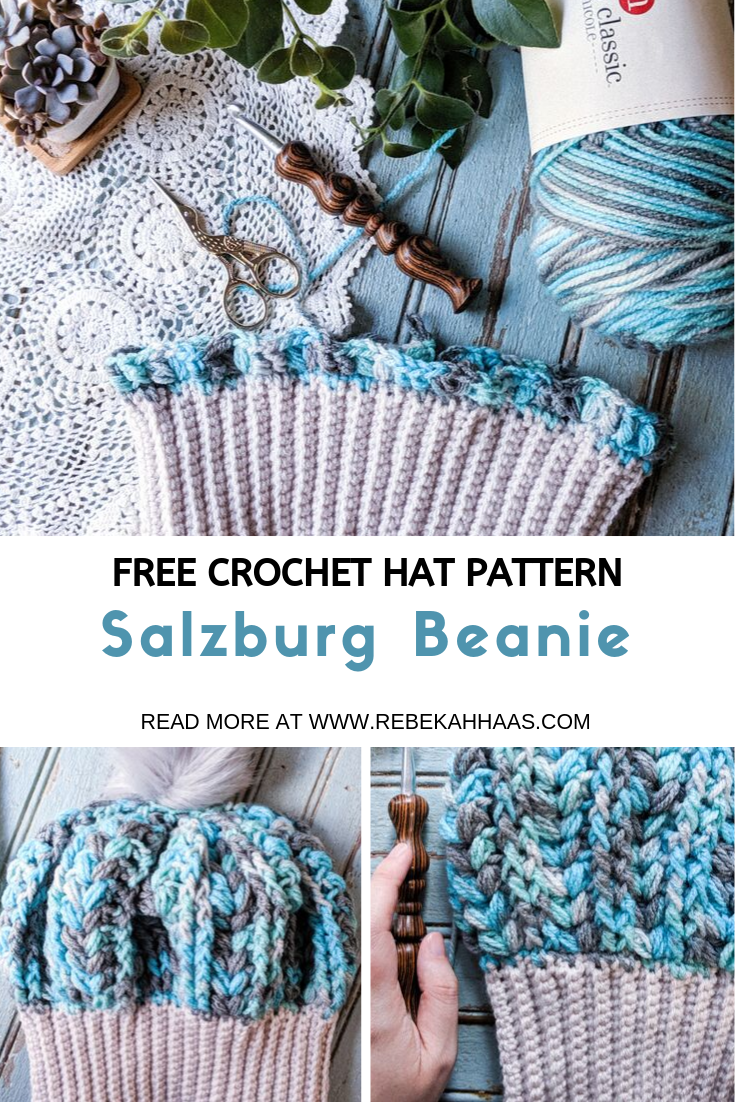 Salzburg Beanie: Free Crochet Hat Pattern