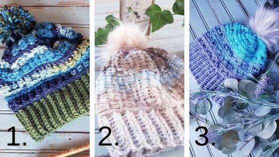 Three Textured Crochet Beanie Patterns