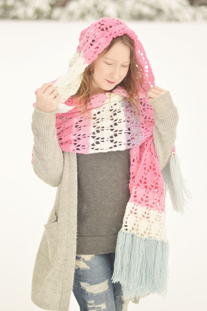 Piper Hooded Shawl - Click for free pattern!