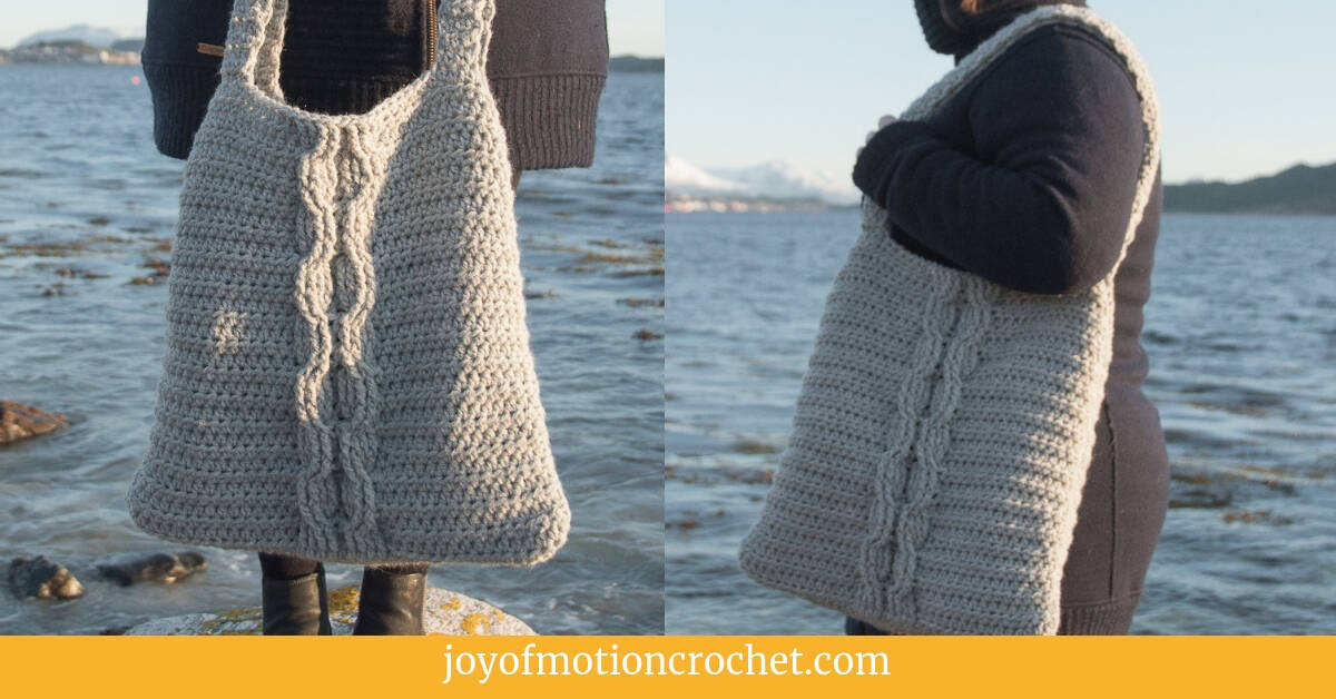 Crochet Cable Como Bag by Joy of Motion - Click for free pattern!
