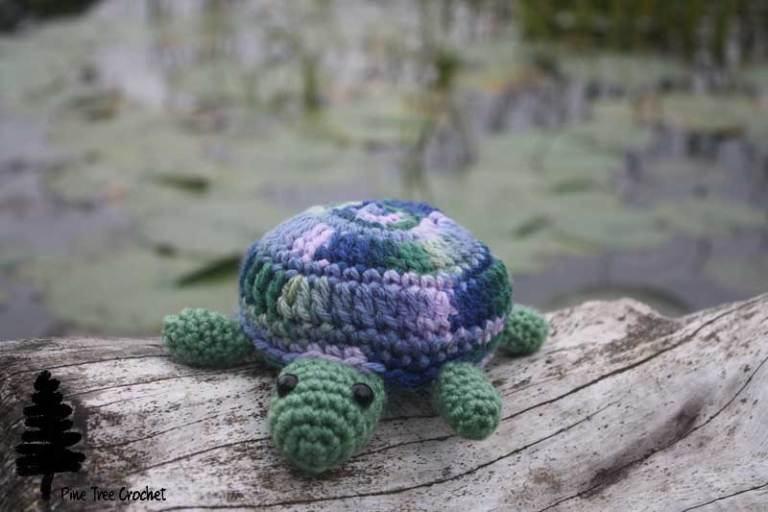 Tammy the Turtle by Pine Tree Crochet - Click for free pattern!