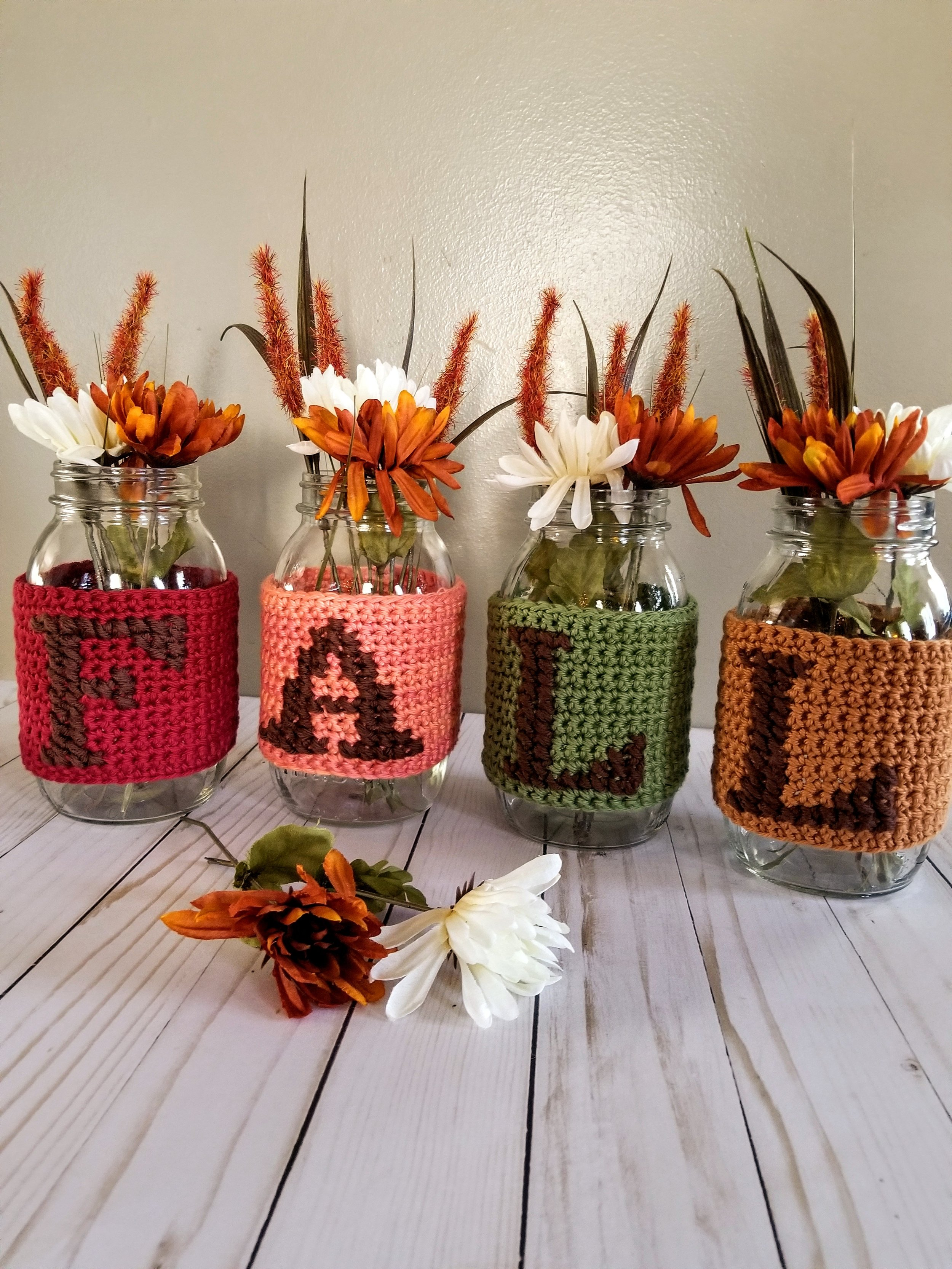 Fall Jars - Click for free pattern!