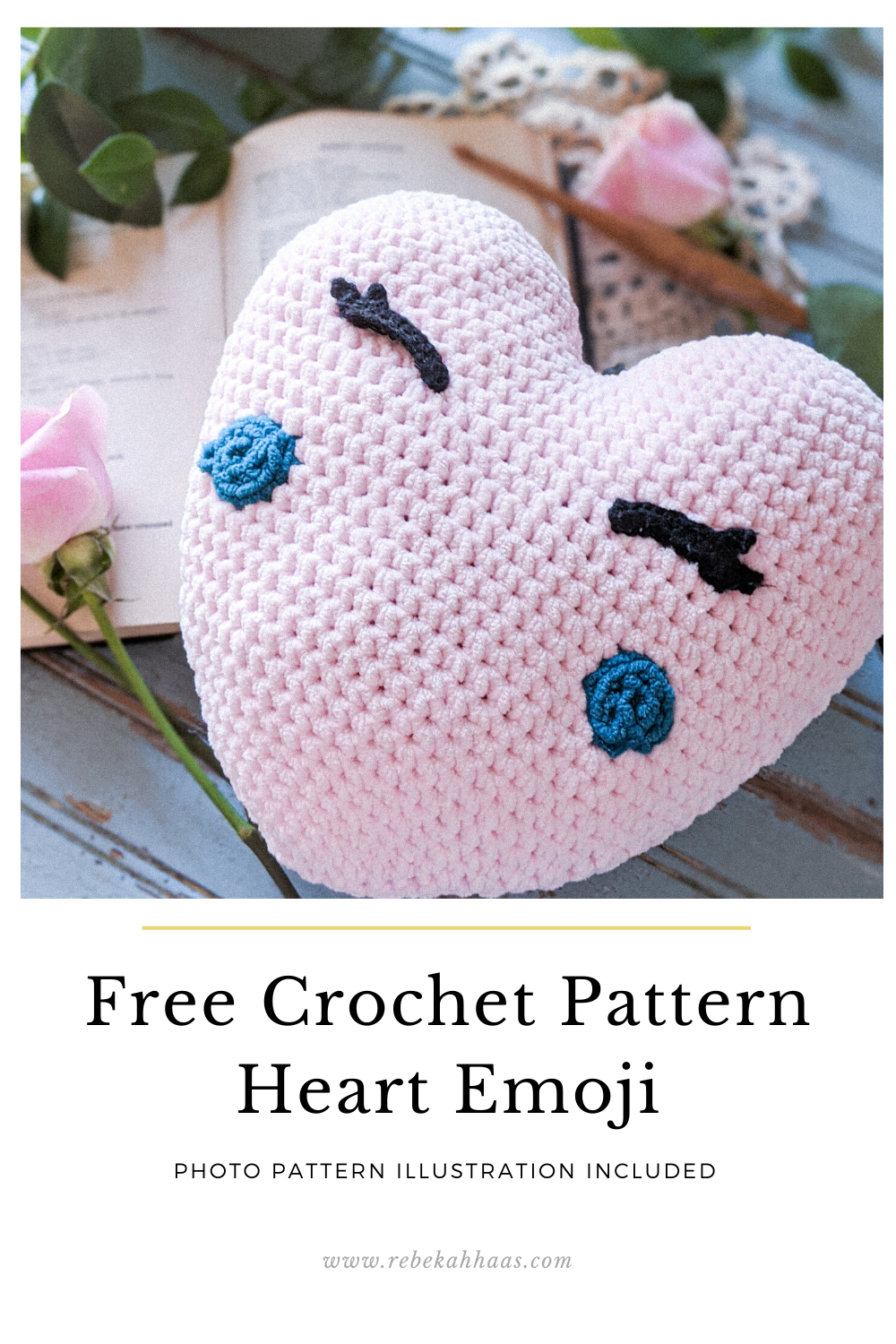Ravelry: Amigurumi Heart pattern by HappyAmigurumi | 1500x1000