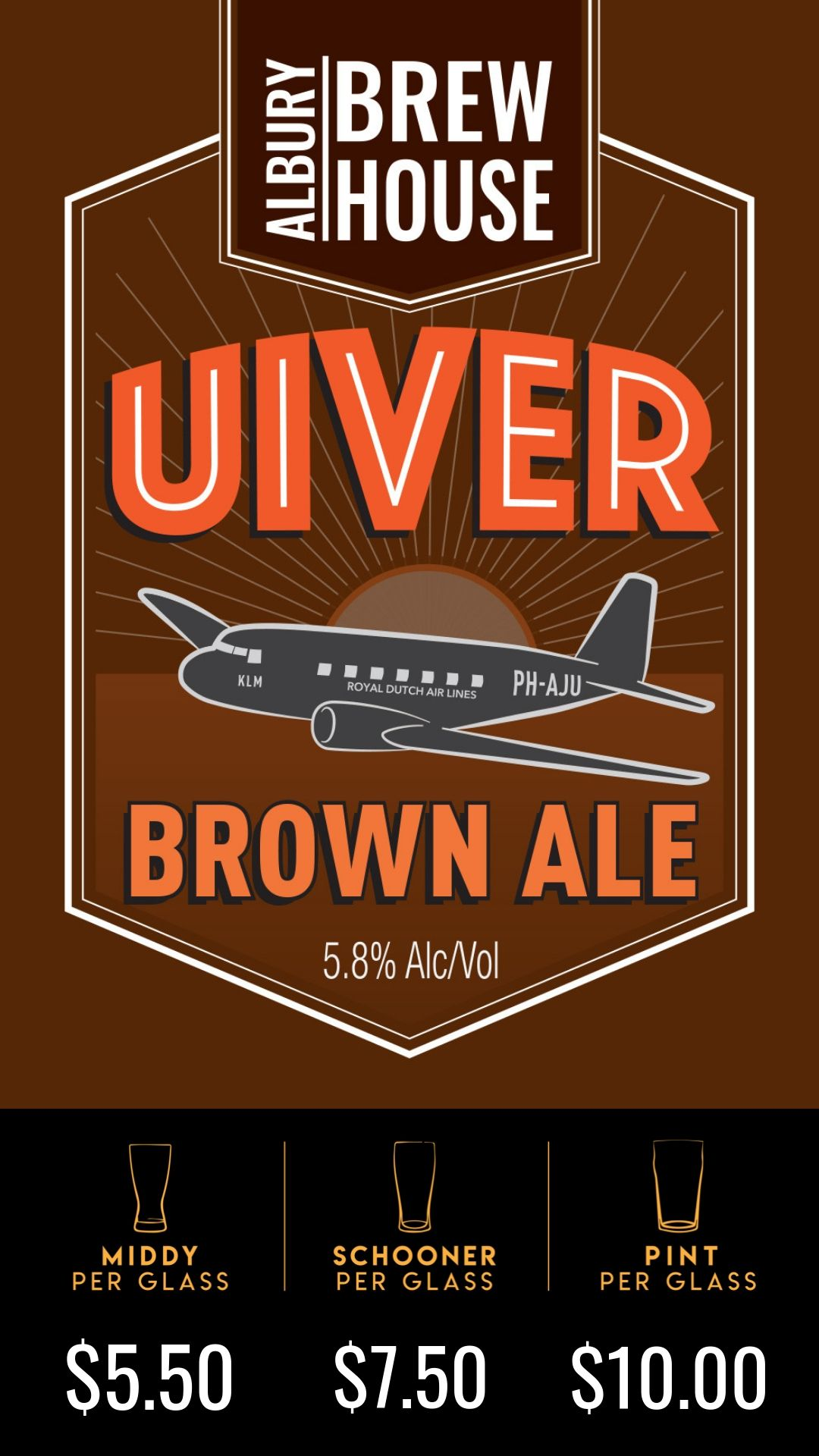 Utilising two varieties of Big German Noble hops and the mellowed fruitiness of U.S. Amarillo, this smooth drinking Brown Ale is well suited to the cool evenings of Albury, and its surrounding areas.