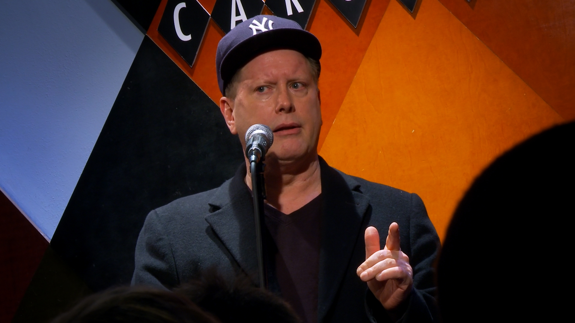 Darrell Hammond doing stand-up comedy - From the documentary film Cracked Up.