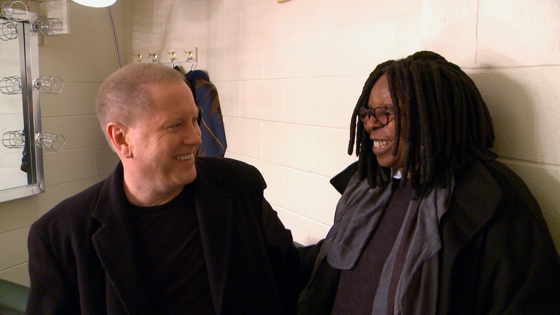 Darrell Hammond with Whoopi Goldberg - From the documentary film Cracked Up.