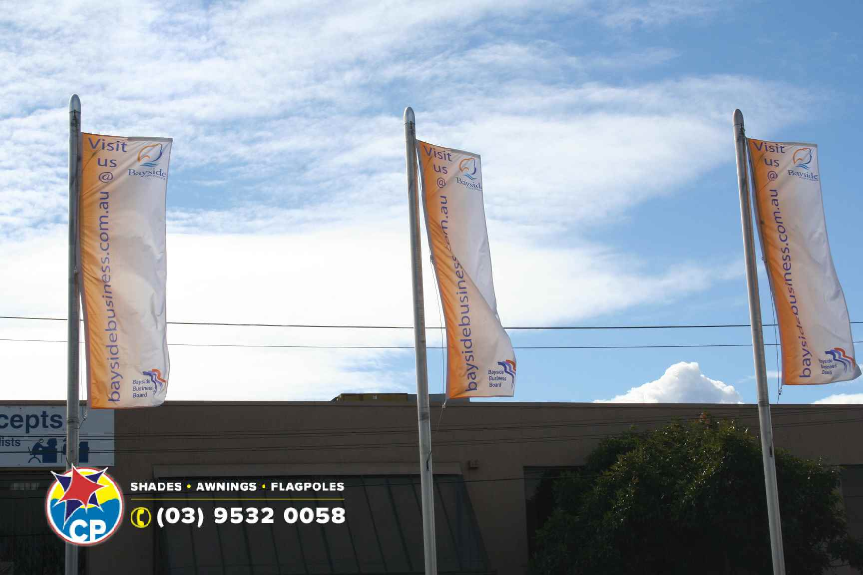 Banner Poles Bayside business.jpg