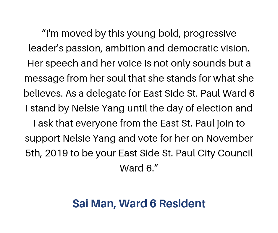 """""""I volunteer for Nelsie, because I believe in her vision of what the Eastside could be! Her progressive ideas are what is needed for change in our community! I have learned that building relationships is key! Talking-3.png"""
