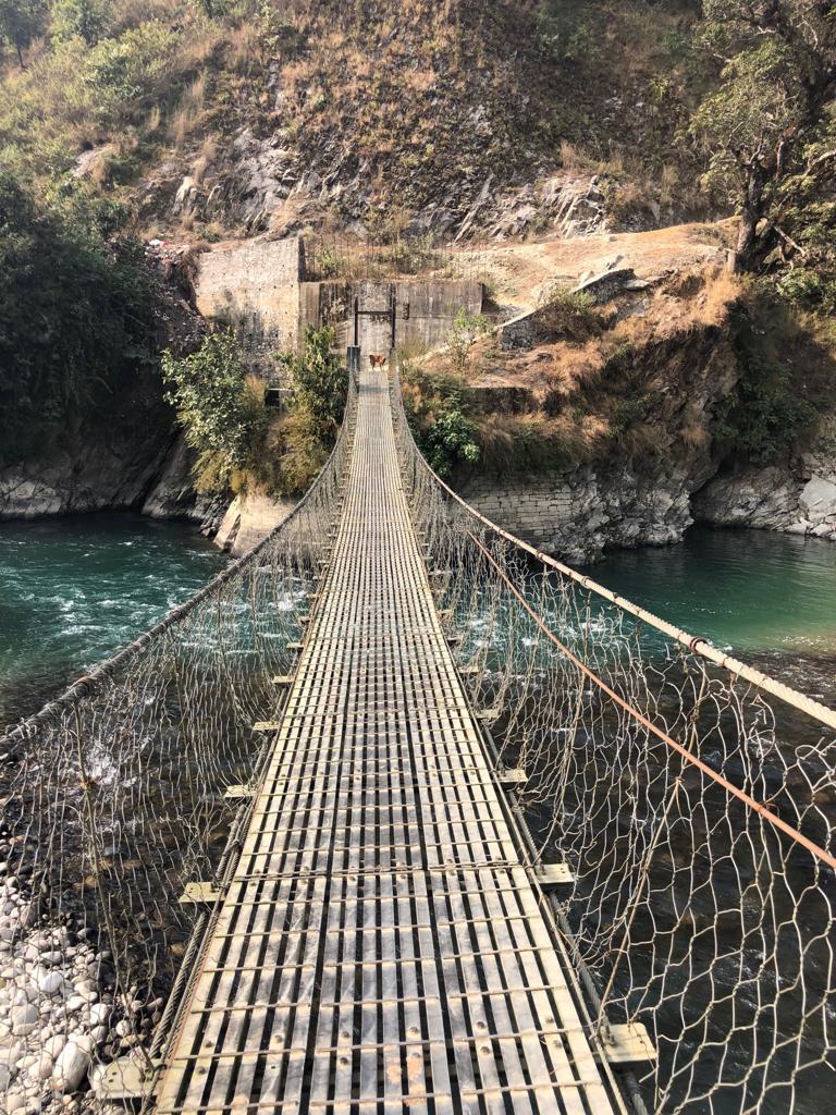 The bridge that connects the villages.