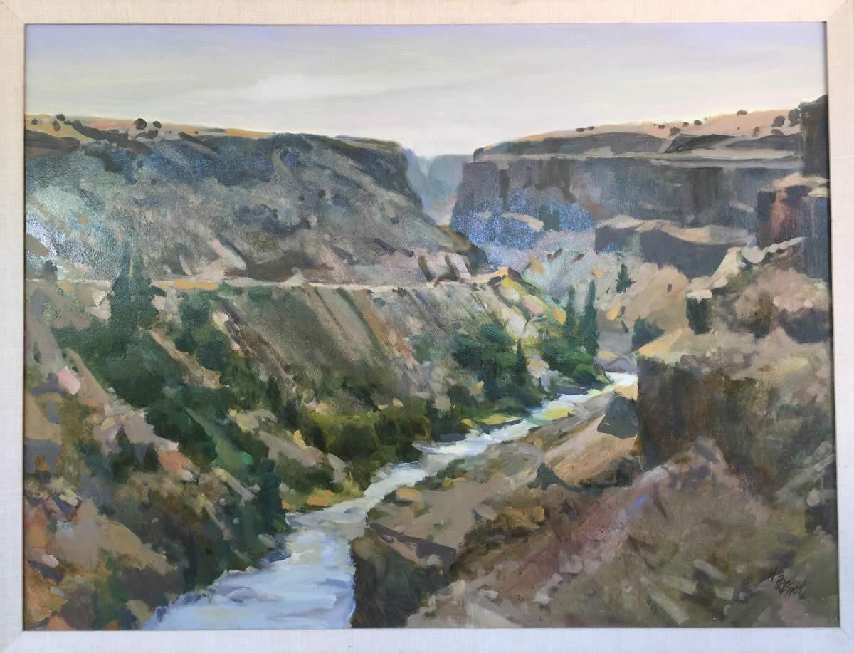 Rio Grande Gorge - 30 x 40  -5500.