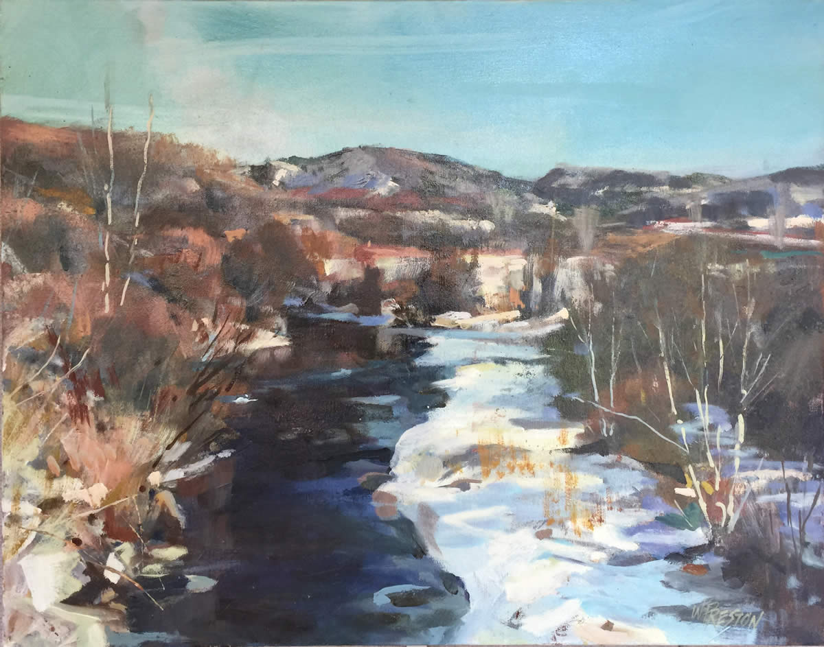 Cundiyo Winter - 22x28 - 2600.