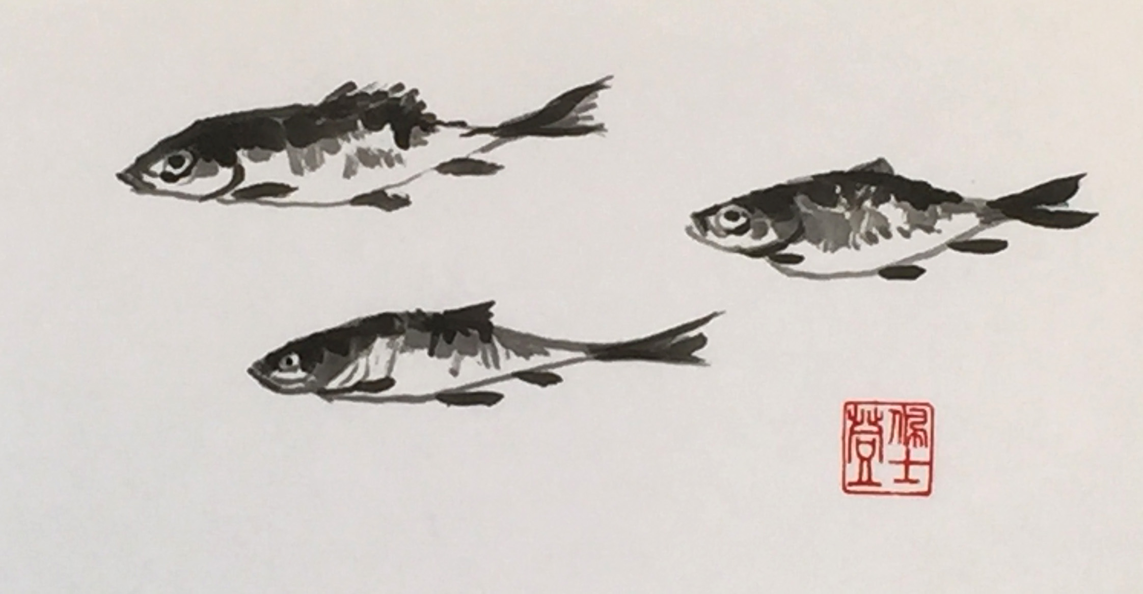 Three Fish -5x10 - $200.