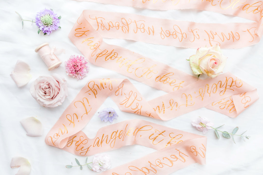 SILK RIBBON CALLIGRAPHY