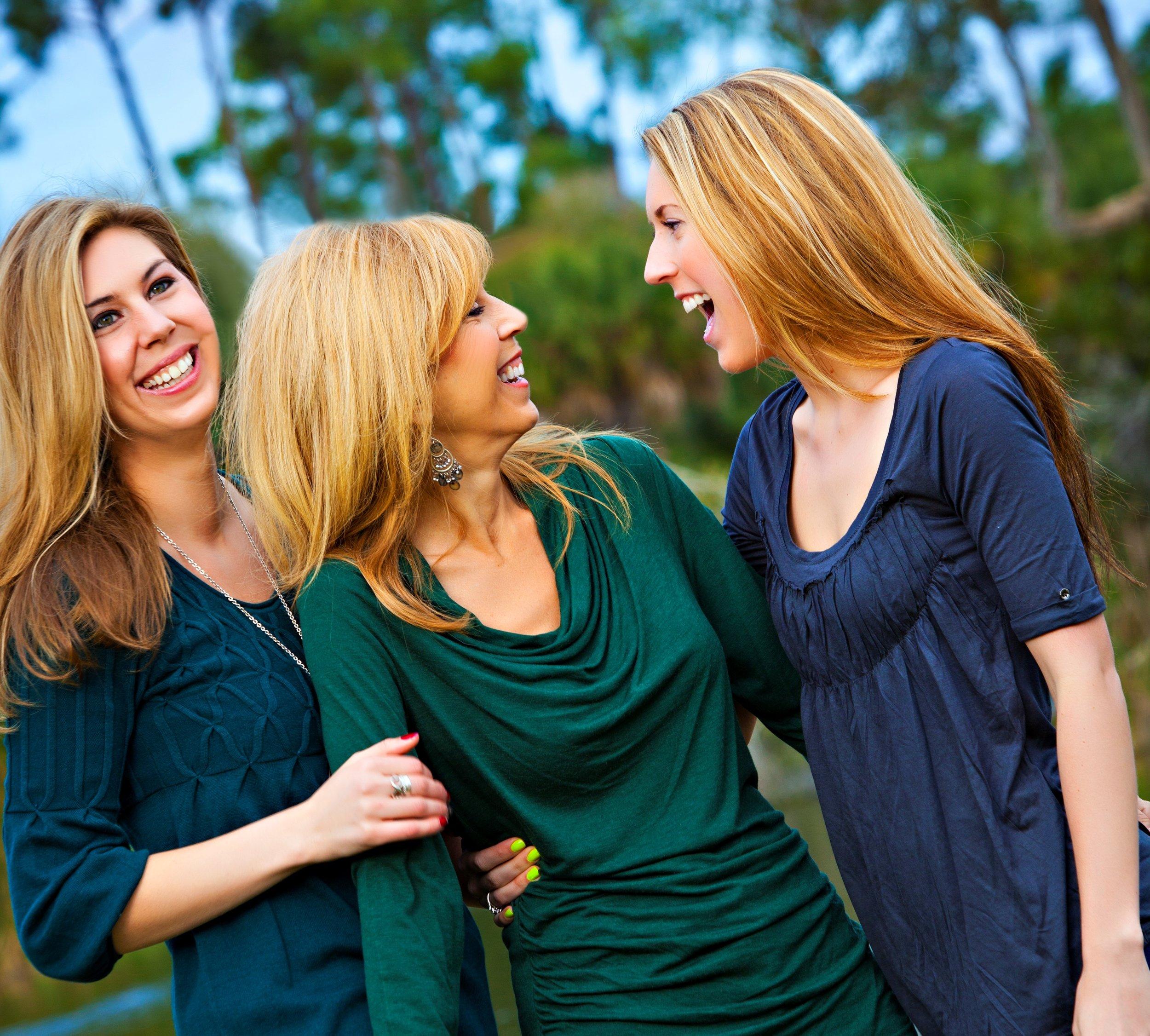 Darlene with her daughters, Loren & Chelsea. -