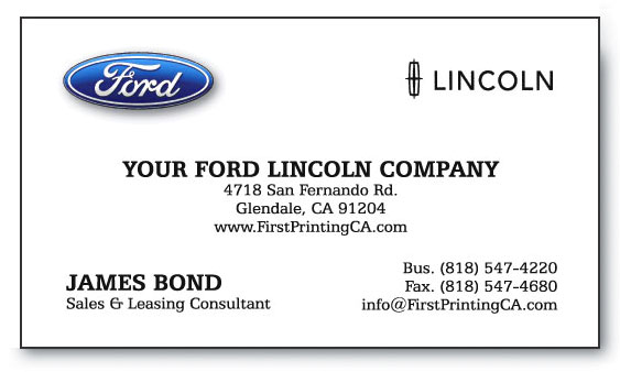 FORD-LINCOLN STANDARD