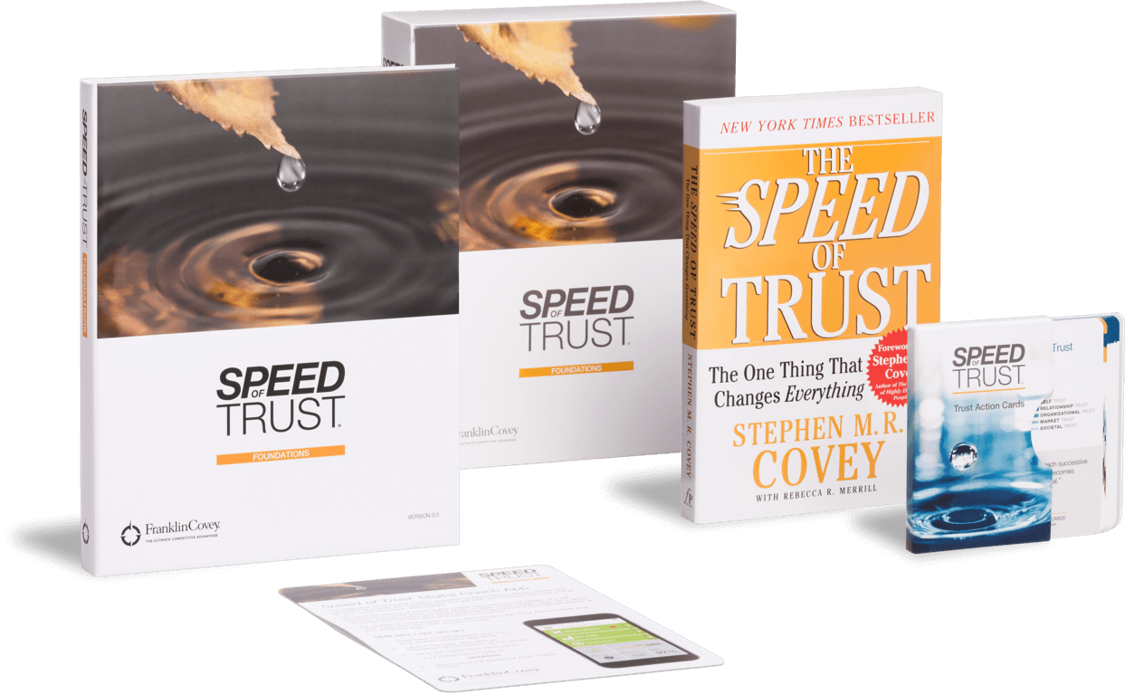 The vital currency in today's connected, collaborative world is trust. Like any other discipline, creating trust is a learnable skill, and with the tenets laid out by Stephen M.R. Covey in his best-selling book The Speed of Trust.