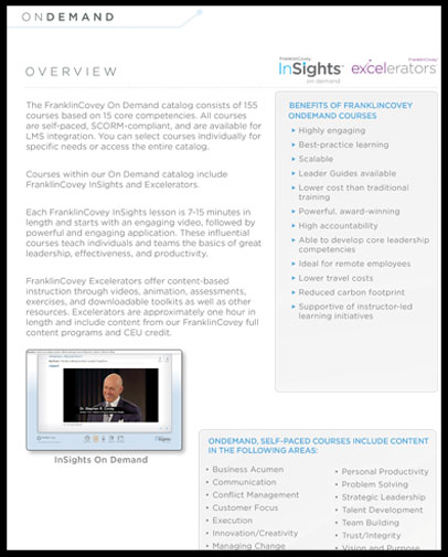 FranklinCovey On Demand Catalog