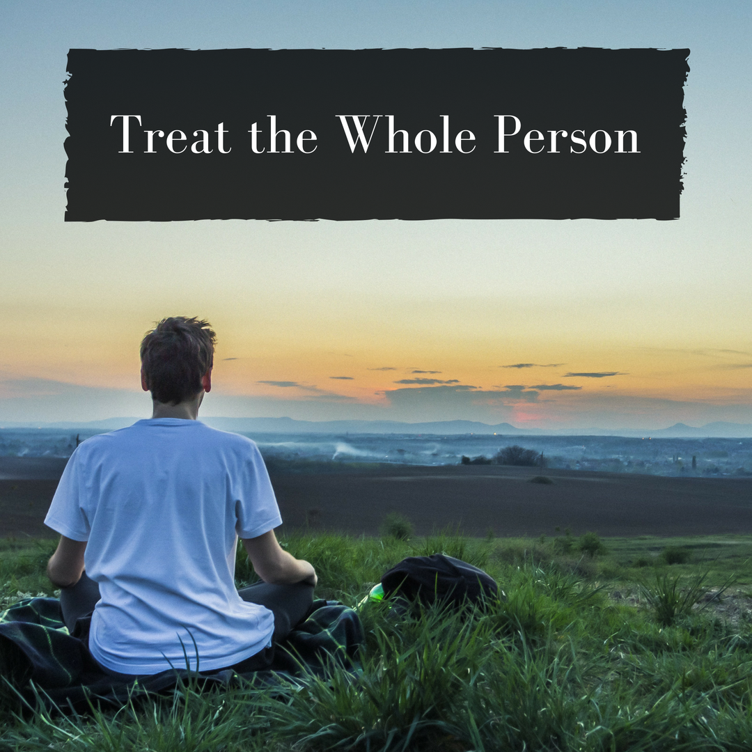 Physical,Mental,Emotional,Genetic,Environmental,Social,Spiritual.We treat all of what makes you, you.  -