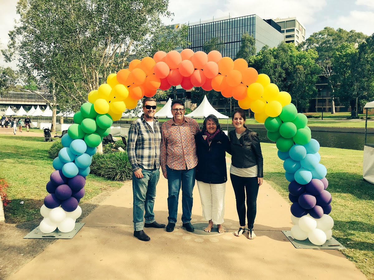 Some of the team at Parramatta Pride