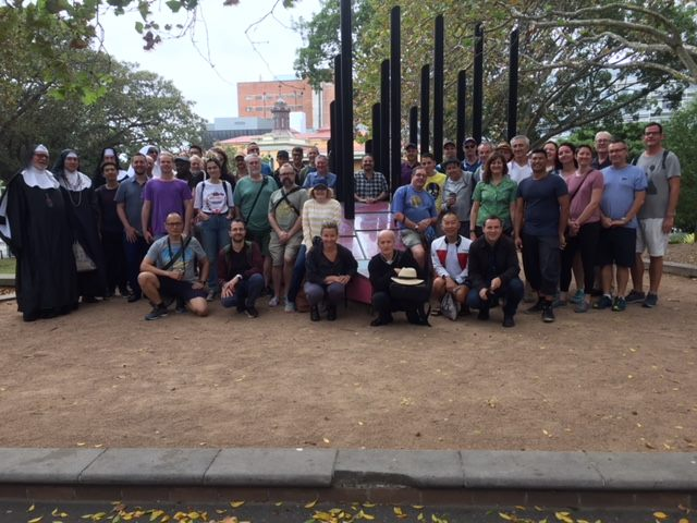 Oxford Street History Walk - at the Green Park, Darlinghurst Pink Triangle Holocaust Memorial